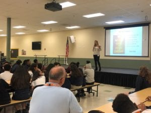 School visits Samantha Caprio-Negret